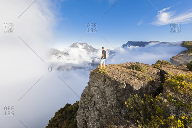 Reunion- Maido viewpoint- View from volcano Maido to Cirque de Mafate