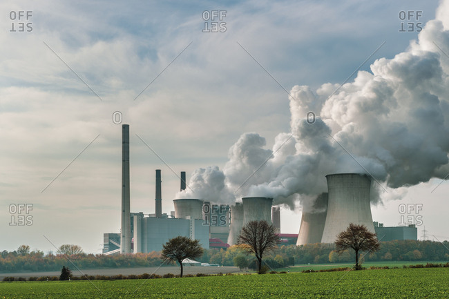 Germany- Grevenbroich- modern brown coal power station Neurath I