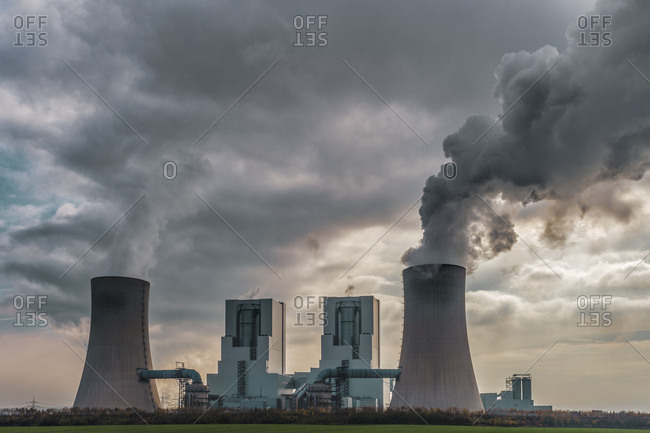 Germany- Grevenbroich- modern brown coal power station