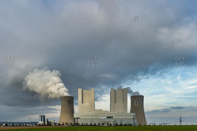 Germany- Grevenbroich- modern brown coal power station Neurath II