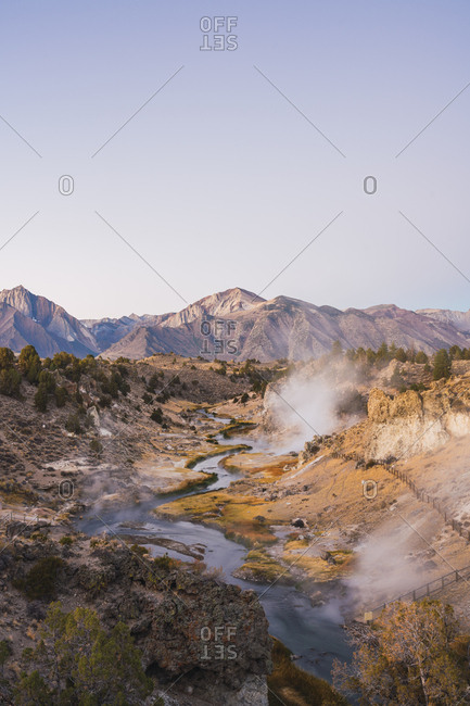 USA- California- Hot creek in Mammoth Lakes
