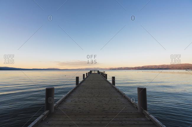 USA- California- Lake Tahoe at sunset