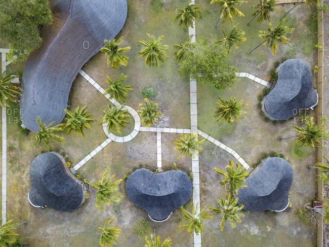 Indonesia- West Sumbawa- Aerial view of Kertasari