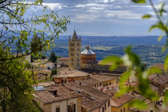 Italy- Tuscany- Massa Marittima- Townscape with Massa Marittima Cathedral