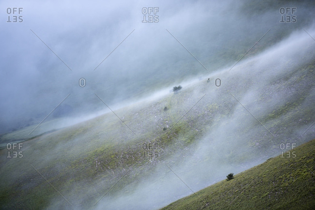 Italy- Umbria- Sibillini National Park- Monte Vettore in the morning