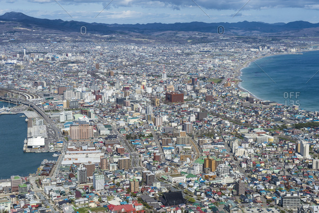 April 30, 2016: Japan- Hokkaido- View over Hakodate