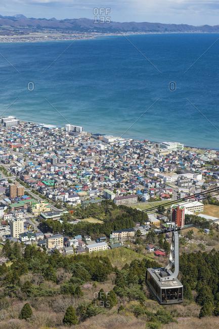 Japan- Hokkaido- View over Hakodate- gondola lift