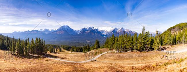 Canada- Alberta- Banff National Park- near Lake-Louise during autmn