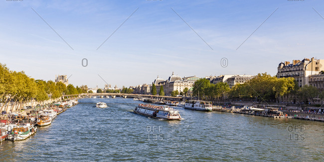 France- Paris- boats and ships on River Seine