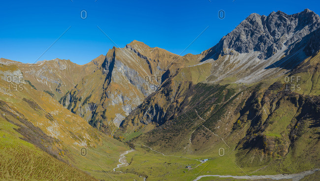 Germany- Bavaria- Allgaeu- Allgaeu Alps- Kaeseralpe in Oy Valley