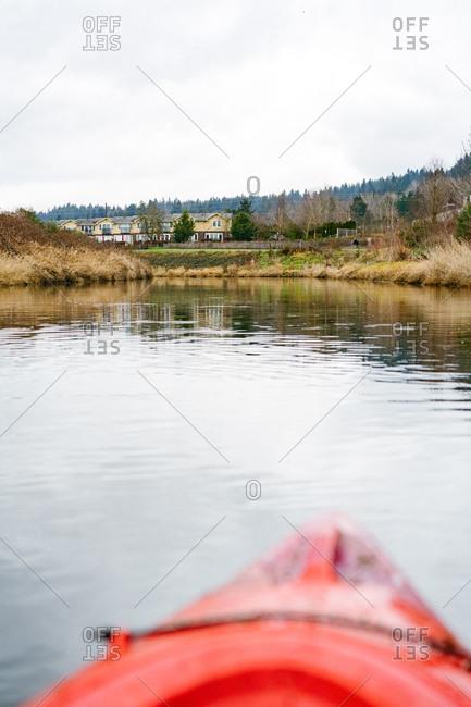 Kayak on the Sammamish River in Washington