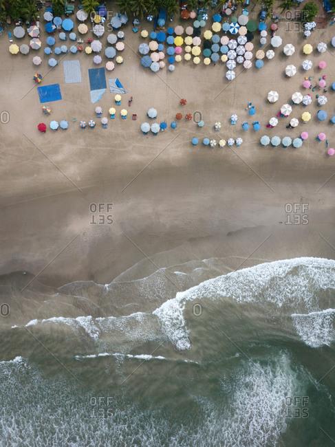 Indonesia- Bali- Semenyak- Aerial view of Double-six beach
