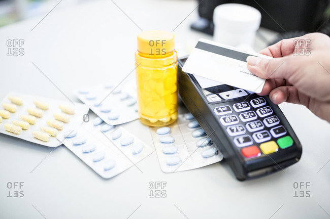 Cashless payment of medicine in a pharmacy