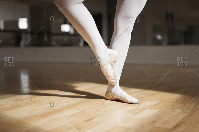 Low section of ballerina dancing