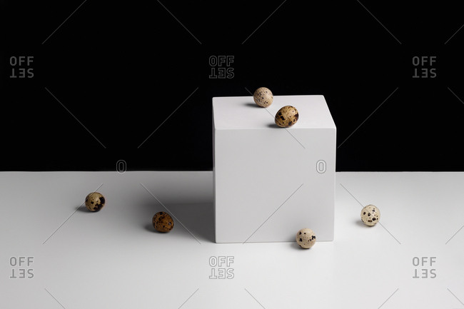 Still life with quail eggs