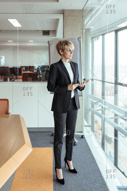 Business woman standing at the office