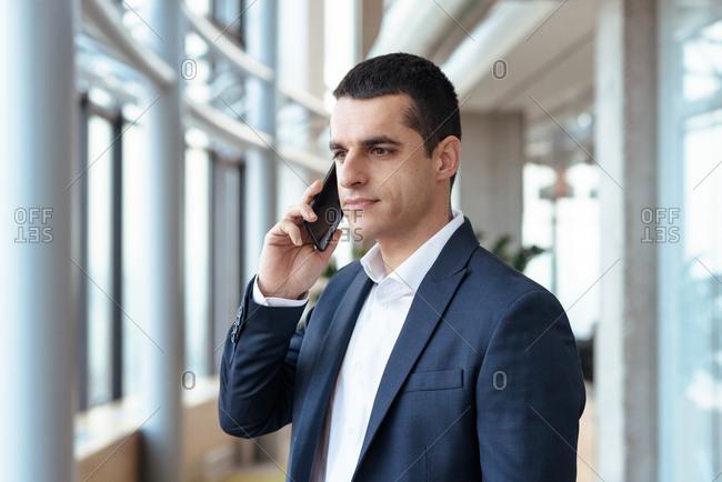 businessman talking on his phone