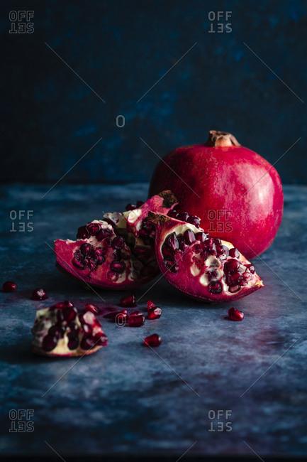 pomegrante still life