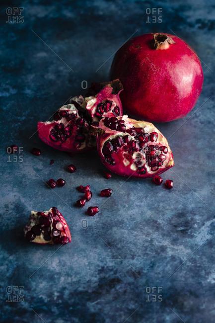still life of pomegranates