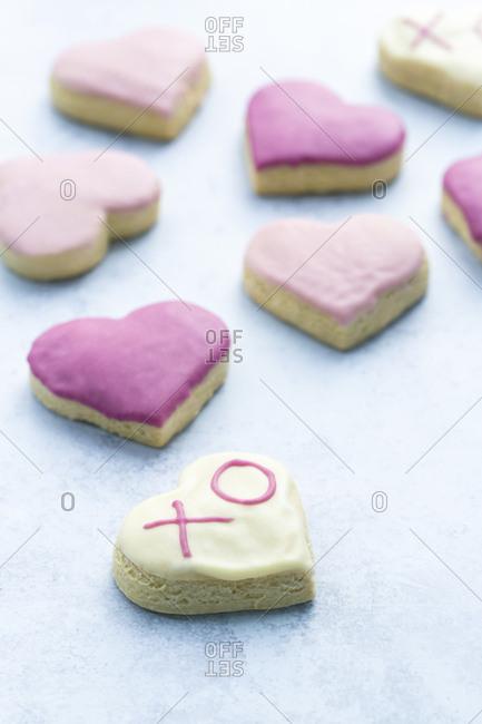 iced valentines cookies