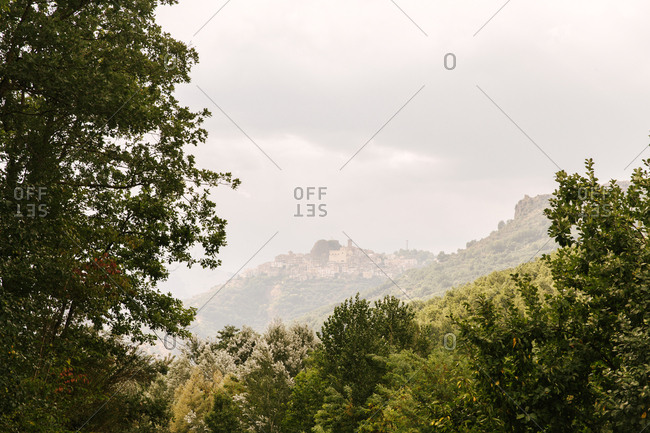 Mountain town of San Chirico Raparo in the Italian region of Basilicata, the Potenza Province.