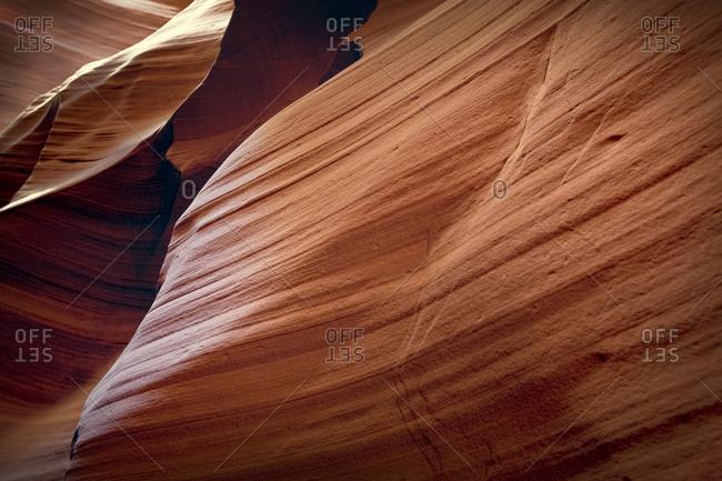 Natural patterns on eroded rock.
