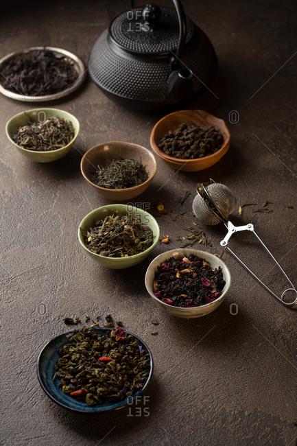 Green, black and herbal tea
