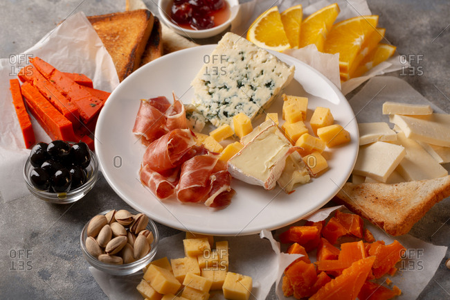 Extravagant cheese plate
