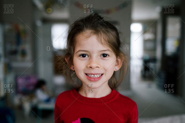 Portrait of a smiling young girl