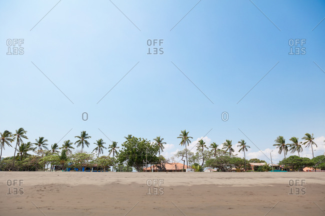 Puntarenas, Costa Rica - April 5, 2018: Puntarenas beach