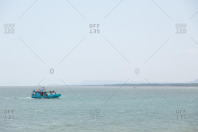 Puntarenas, Costa Rica - April 5, 2018: Punta Arenas fishing boat