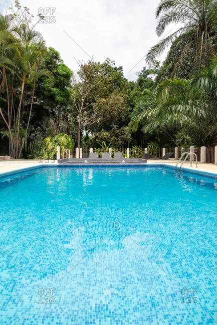 Blue resort swimming pool