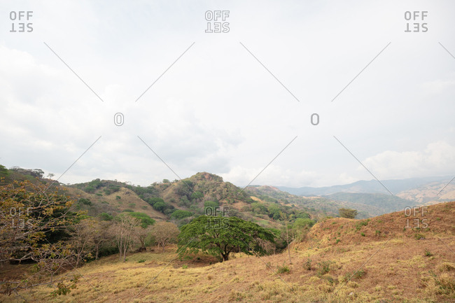 Rolling hills in the Costa Rican countryside