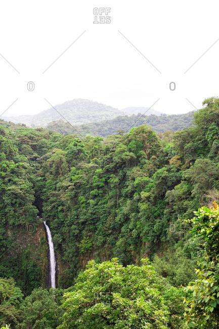 Waterfall of La Fortuna in Costa Rica