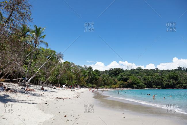 Quepos, Costa Rica - April 12, 2018: Beautiful tropical beach