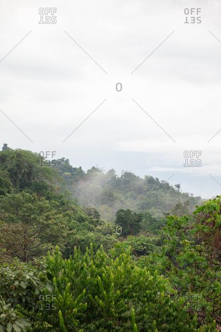 Cloudy sky over Manuel Antonio National Park, Costa Rica
