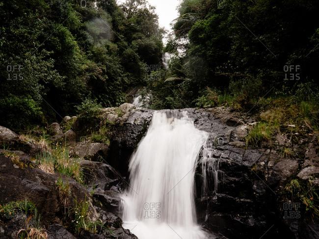Cascade in Kaiate Falls, New Zealand