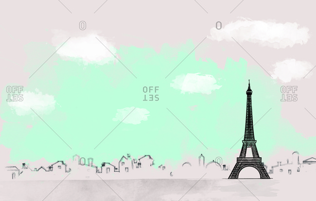 Outline of Paris landscape