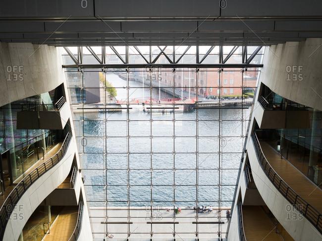 Copenhagen, Denmark - October 1, 2016: Royal Library of Denmark