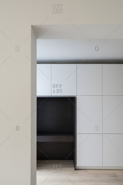 Modern geometric apartment in Uccle, Belgium