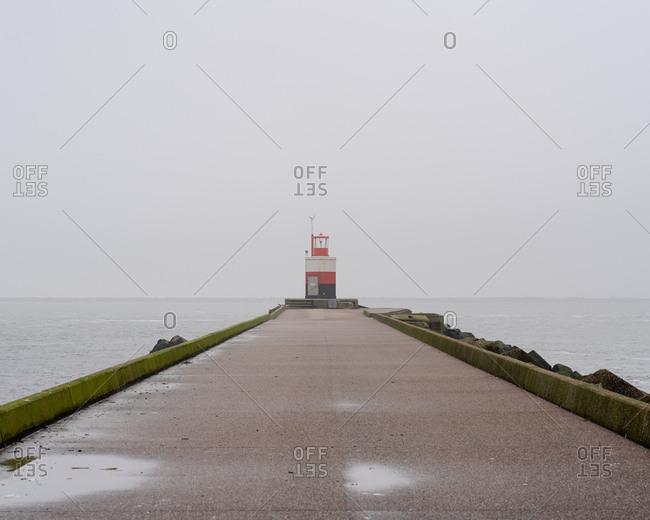 A light house in Wijk aan Zee, The Netherlands