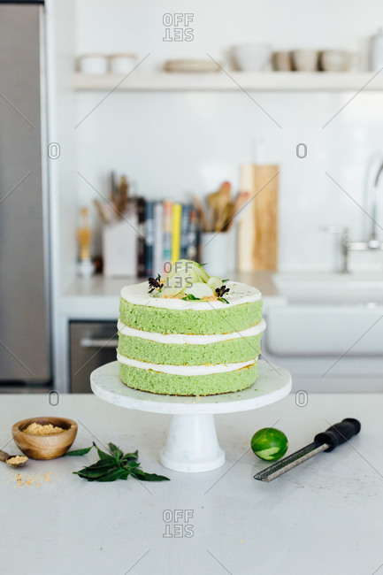 Homemade green cake