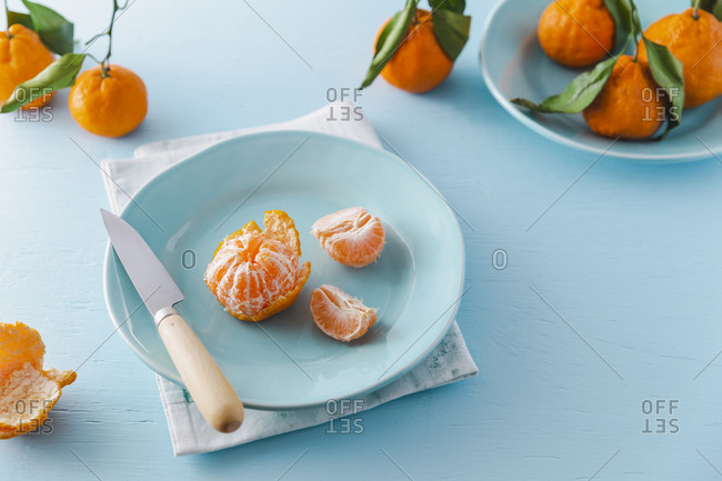 chinese mandarin oranges horizontal shot