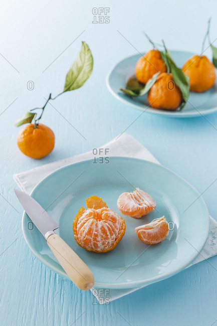 Chinese mandarin oranges vertical shot