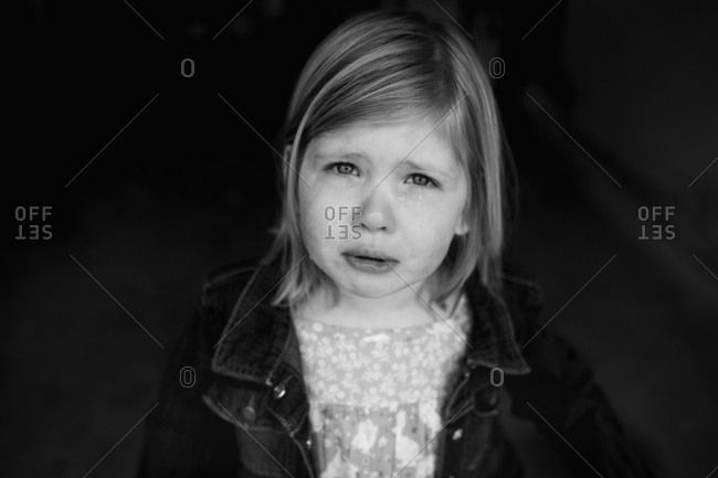 Little girl looking sad