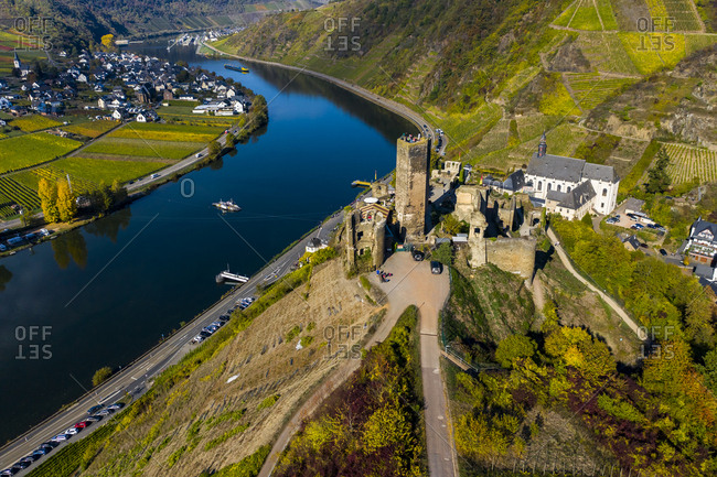 Germany- Rhineland-Palatinate- Poltersdorf- Moselle river- Metternich Castle