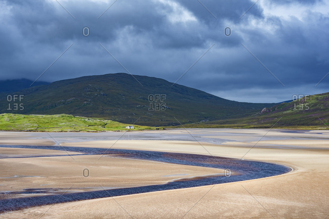 United Kingdom- Scotland- Sutherland- Durness- Kyle of Durness- low tide