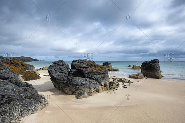 United Kingdom- Scotland- Sutherland- Durness- Sango Sands- rocky coast