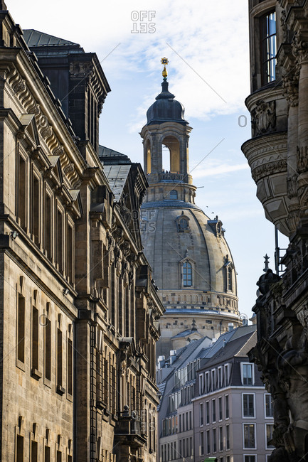 Germany- Dresden- view to Church of Our Lady