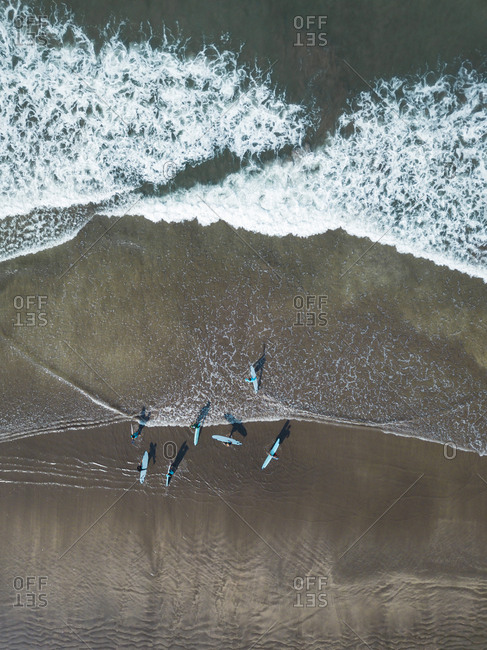 Indonesia- Bali- Kuta beach- surfers
